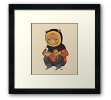 noodle bear Framed Print