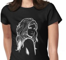 White Lady Womens Fitted T-Shirt