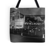 Destruction of RSL at night Black and White Tote Bag