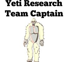 Yeti Research Team Captain by GiftIdea