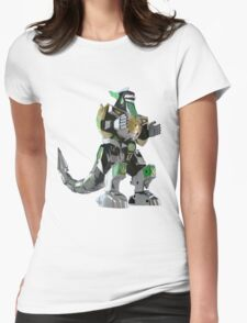 Mighty Morphin Power Rangers Dragonzord Womens Fitted T-Shirt