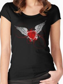 Angelic destruction Women's Fitted Scoop T-Shirt