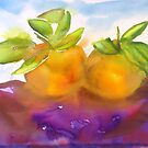 Watercolour Alla Prima Manderines by Karen Fernandez