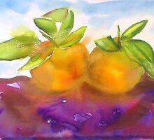 Watercolour Alla Prima Manderines by Karen Fernandez