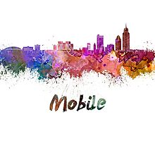 Mobile skyline in watercolor by paulrommer