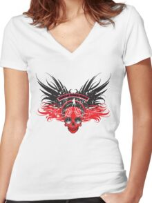 Walk this way Women's Fitted V-Neck T-Shirt