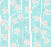 Blossoms on mint by bunyipdesigns