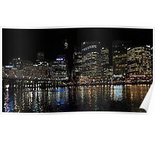 Darling Harbour at Night Poster