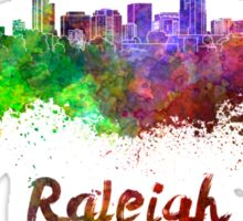 Raleigh skyline in watercolor Sticker