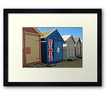 Beach Box Patriot Framed Print