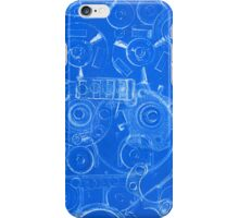 Techno 4 Monotype Print in Blue iPhone Case/Skin