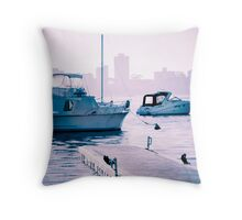 The morning purple Throw Pillow