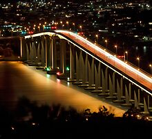 Tasman Bridge by Night by Chris Cobern