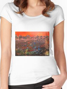 Craggy Mountain Sunset Women's Fitted Scoop T-Shirt