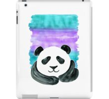 Lazy Panda on Mint & Violet iPad Case/Skin