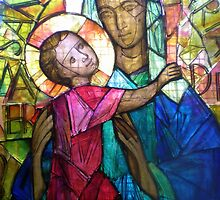 Virgin and Child, stained glass by Songwriter