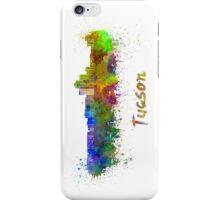 Tucson skyline in watercolor iPhone Case/Skin