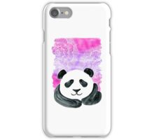 Lazy Panda on Pink & Purple iPhone Case/Skin