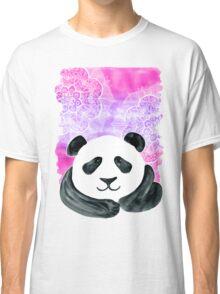 Lazy Panda on Pink & Purple Classic T-Shirt