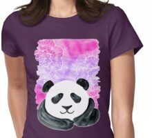 Lazy Panda on Pink & Purple Womens Fitted T-Shirt