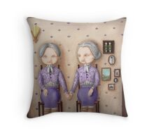Olive and Bernice Throw Pillow