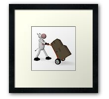 cow and freight Framed Print