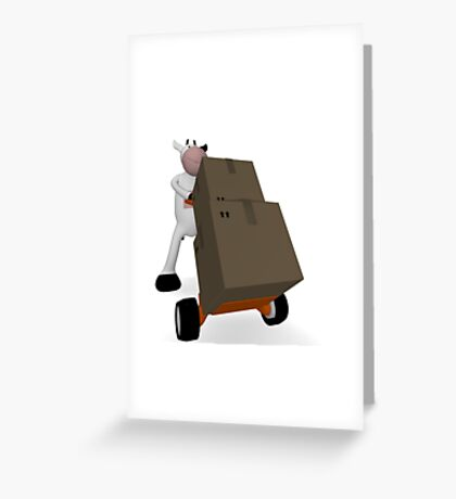 cow and freight Greeting Card