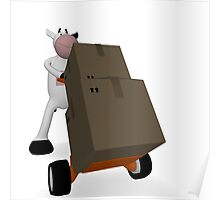 cow and freight Poster