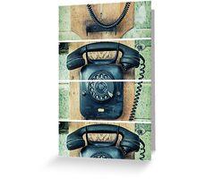 study wall telephone III Greeting Card