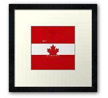 Team Canada (Sochi 2014) Home Jersey Framed Print