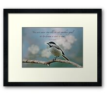 You are never too old . . . Framed Print