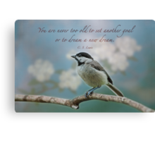You are never too old . . . Canvas Print