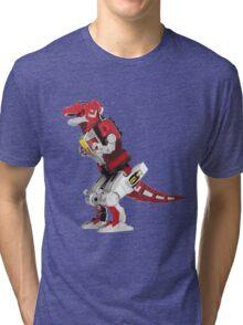 Mighty Morphin Power Rangers Tyrannosaurus Dinozord Tri-blend T-Shirt