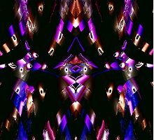 WA9 Colour in the Night fractal trace design by Dennis Melling