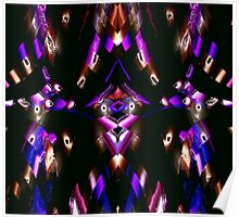 WA9 Colour in the Night fractal trace design Poster
