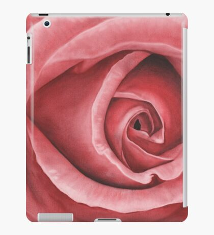 Close Up Rose - Dry Brush Oil Painting iPad Case/Skin