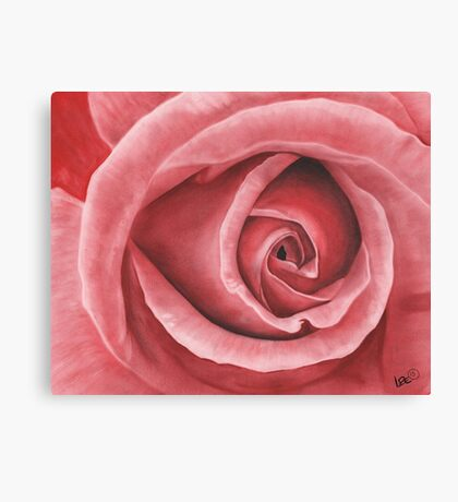 Close Up Rose - Dry Brush Oil Painting Canvas Print