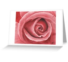 Close Up Rose - Dry Brush Oil Painting Greeting Card