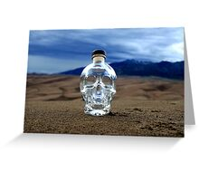 Crystal Skull in the Great Sand Dunes Greeting Card