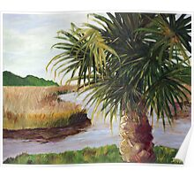 Peaceful Palmetto Poster
