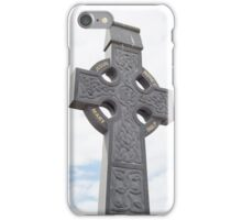 celtic cross from a grave yard iPhone Case/Skin