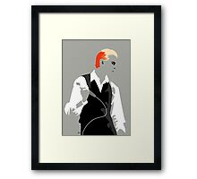The Thin White Duke. Framed Print