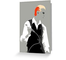 The Thin White Duke. Greeting Card