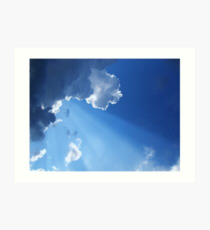 Every Cloud Has Its Silver Lining Art Print