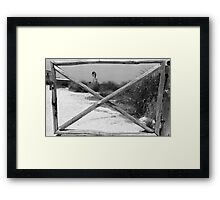 Gate + WindMill Framed Print