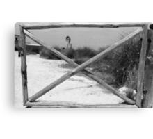 Gate + WindMill Canvas Print