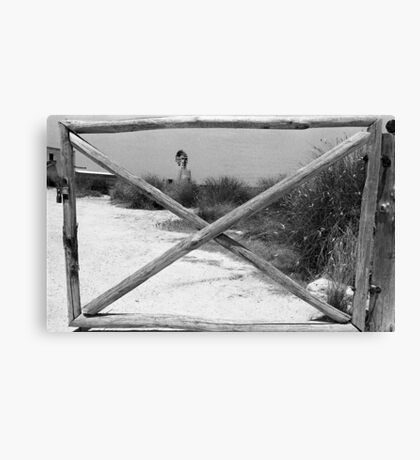 Gate + WindMill Canvas Print