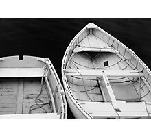 Two rowboats at Port Clyde Harbor, Maine Photographic Print