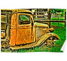 lumber truck in HDR Poster