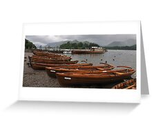 Rowing Boat Line Greeting Card